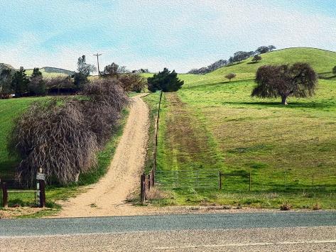 Near Oak Hills where Ranger herds sheep, a landscape painting by me, Ranger